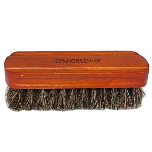 Cepillos de limpieza Cepillo del zapato - herramienta de pulido de arranque 2PC crin zapato de cuero natural Cepillo polaco real del caballo de pelo suave arranque Cepillo de limpieza for gamuza Nubuc
