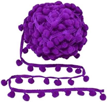 Kalagiri Pompom Purple Cotton Fringe LACE for Tassels Our shop OFFers the best Credence service Trim Saree