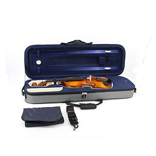 Viool hoes in volledige afmetingen, duurzame viool koffer met hygrometer handvat ritssluiting booghouder draagriem professionele viool koffer met Oxford weefsel licht viool draagt.