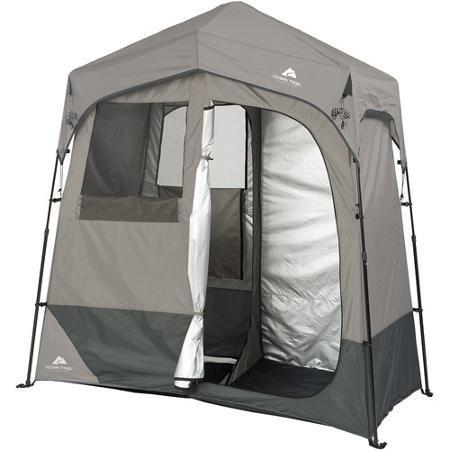 Ozark Trail 2-Room 7' x 3.5' Instant Shower/Utility Shelter Dark Grey