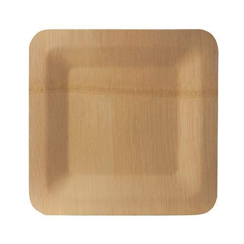 Papstar 88037 - Platos de bambú (1,5 x 23 x 23 cm, 10 unidades)