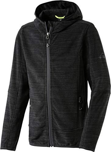 McKINLEY Unisex-Kinder Fleece Veste Choco Iii Blazer, (Mélange/Black), (Herstellergröße: 104)