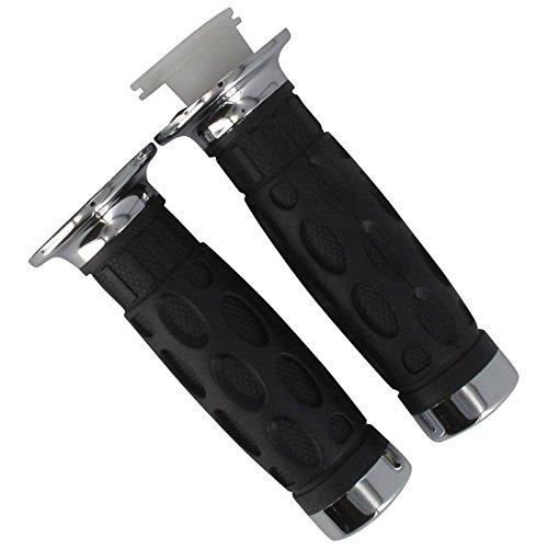 Xfight-Parts Handgriffgummi Paar mit Chromendkappen 22-24mm Länge 120mm 700382 für Benzhou Yiying Benzhou_(Yiying) YY50QT 14