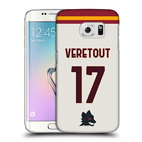 Head Case Designs Licenza Ufficiale AS Roma Jordan Veretout 2020/21 Giocatori Away Kit Gruppo 1 Cover Dura per Parte Posteriore Compatibile con Samsung Galaxy S6 Edge