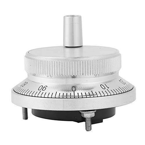 Rueda de mano CNC de 5 V, rueda de mano electrónica universal, codificador rotatorio CNC de 4 terminales, generador de pulso manual, 60 mm de diámetro