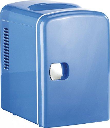 Rosenstein & Söhne Reisekühlschrank: Mini-Kühlschrank mit Warmhalte-Funktion, für 12 & 230 V, 4 Liter, blau (Mini Kühlschrank AC DC)