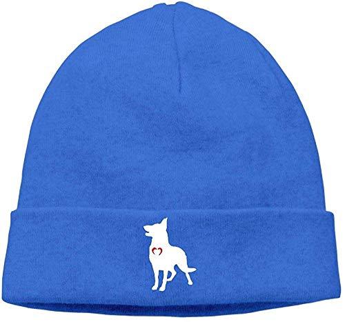 Voxpkrs Soft Woolen Cap for Unisex, German Shepherd with Heart-1 Skull Cap Cool 32236
