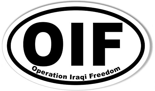 OIF OEF Veteran 4.5 Clear Decal