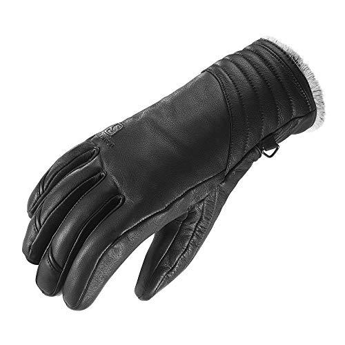 Salomon, Damen Frontside-Ski-Handschuhe, Leder, Primaloft-Isolierung, NATIVE W, Größe: L, Schwarz, L36716700
