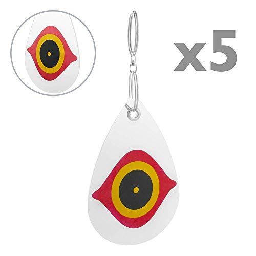 PrimeMatik - Discos reflectores repelentes de Aves Ahuyentador de pajaros Espantapájaros 5-Pack