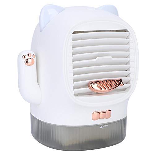 Asixxsix Raffreddatore d'Aria, Tre velocità del Vento Ventilatore per condizionatore d'Aria Lucky Cat da Interno Carino, per Soggiorno con(in-Line)