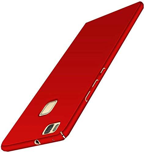 TXLING Cover per Huawei P9, [Alta qualità] [Ultra Slim] Anti-Scratch Hard PC Case Custodia per Huawei P9 (Rosso)