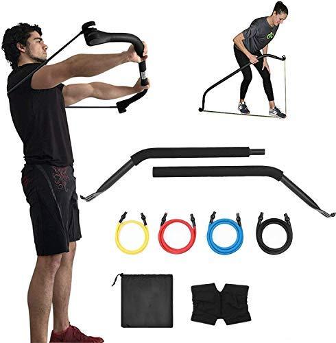 ipanda Bow Bandas de resistencia y sistema de fitness portátil para el hogar, viajes, al aire libre