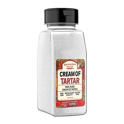 Cream of Tartar, 2 Cups by Unpretentious Baker, Highest Quality USP & Food Grade, Better than Restaurant Quality, Non-GMO, Kosher, Gluten Free, Vegan, Slotted Cap Spice Shaker