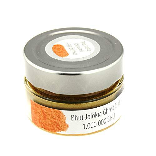 Bhut Jolokia Chili Pulver| 2007 schärfster Chili der Welt (1.000.000 Scoville) 40g