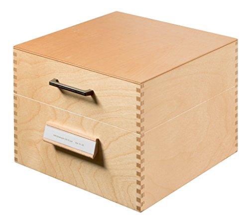 HAN Karteikasten 505, DIN A5 quer aus Holz / Hochwertige Lernkarteibox aus edlem & robustem Naturholz für 900 DIN A5 Karteikarten / Ideal zum Vokabeln lernen & als Lehrmaterial