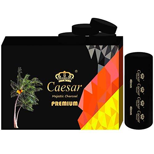Caesar Schnellanzünder selbstzündende Kohle für Wasserpfeife, Shisha und Räuchergefäß 40mm - Kohlerollen (10 Rollen (100 Kohlen))