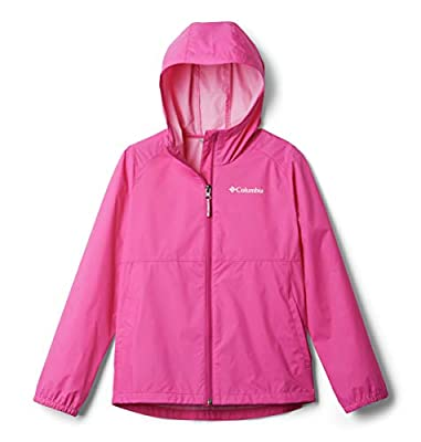 Columbia Girls' Little Switchback II Waterproof Jacket, Pink Ice, Small