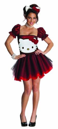 Disfraz Hello Kitty? rojo adulto - S