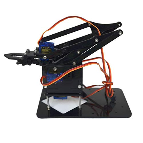 Semoic Robot Arm Kit Educational Robotic Claw Set Multi Screws Assembled Accessories to Raspberry Pi (No Board)