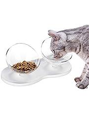 Ciotole per Gatti con piedistallo, Ciotola per Gatti sollevata Ciotola per Alimenti per Gatti Doppia Antiscivolo/Ciotola per Acqua di Gatto/Piatto per Gatti Ridurre Gli Animali Dolore al Collo