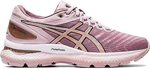 ASICS Women's Gel-Nimbus 22 Running Shoes, 8.5M, Watershed Rose/Rose Gold
