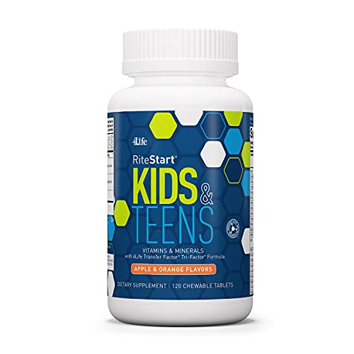 4Life RiteStart Kids & Teens - Apple and Orange Flavors - 22 Essential Vitamins and Minerals - Ages 2 and Up - Immune System...