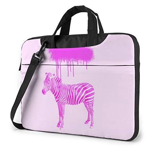 Cheapest Price! Laptop Shoulder Bag Carrying Laptop Case 15.6 Inch, Pink Zebra Print Computer Sleeve...