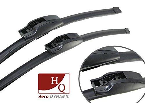 Preisvergleich Produktbild - Set von vorne rahmenlose flach Aero Wischerblätter HQ Automotive mit Waschmaschine Jet Spray adj81621 Twin-Box Twin Box