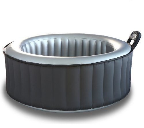 M Spa Model B-110 Silver Cloud Hot Tub, 71 by 71 by 28-Inch, Gray