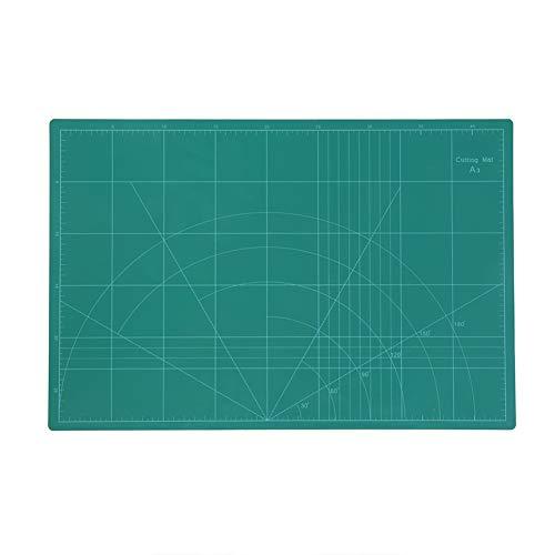 Nicoone A3 45 x 30 cm líneas de rejilla de PVC alfombra de corte Consejo bricolaje, artesanía, herramientas de oficina, papelería, accesorio verde