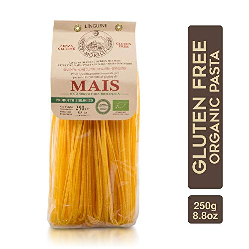 Morelli Gluten Free Corn Pasta - Organic Linguine Pasta from Italy - 8.8 oz
