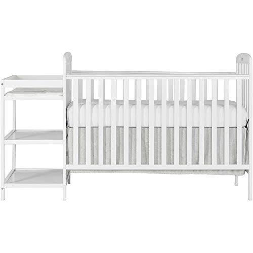 Find Discount White Full Size Convertible 2-in-1 Crib Bed Baby Toddler Nursery Crib and Changer Set ...