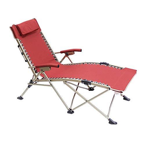 Allamp Plegable Silla Plegable portátil de la Gravedad Cero Silla de salón de sillones reclinables for Patio, Piscina con la Almohadilla