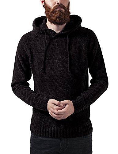 Urban Classics Herren Chenille Hooded Sweater Kapuzenpullover, Schwarz (black 7), X-Large