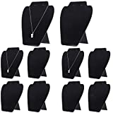 10 Packs Necklace Display, KINJOEK Jewelry Earring Easel Black Velvet Display Stand Tower Rack for Shows Business Home 7.07× 8.15 Inch