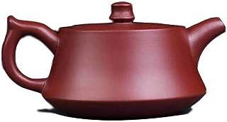 HaiNing Zheng teapot plinth pot pure purple clay ore authentic hand-bubble Pu'er tea household flat (Color : Purple mud)