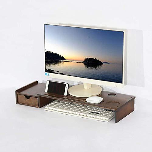 Bamboe Verdikking met schuiflade, monitor, tafel, standaard, laptopstandaard voor monitor, toetsenbord, lifting, desktoptoetsenbord voor familie-kantoor A 71 x 22 x 5 x 5 cm