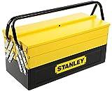 Stanley 1-94-738 94-738 Boîte métal 5 Tiroirs - Grand Volume de Rangement -deux Poignées Articulées - Système Anti Pince-Doigt - Dimensions: 46 x 20,8 x 20,8