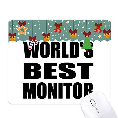 's Werelds beste monitor afstuderen seizoen muis pad spel office mat kerst rubber pad