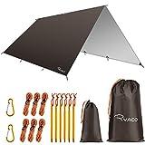 Ryaco Bâche Anti-Pluie, Camping Bâche Rain Tarp Toile de Tente Imperméable Abri de Randonnée Pliable...