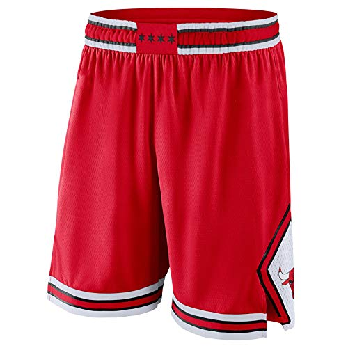 Chicago Bulls LaVine Jordan #23 Jugend Basketball Shorts für Herren, Mode Stickerei Atmungsaktiv Verschleißfest Outdoor Fitness Sporthosen Lose Shorts Gr. XL, rot