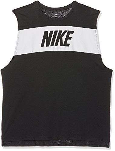 Nike M Nsw Tank Drptl Av15 Camiseta sin Mangas, Hombre, Negro (Black / White), M