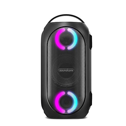 Anker Soundcore Rave Mini Bluetooth スピーカー 大音量 80W出力 防水 重低音 高音質 BassUpテクノロジー LEDライトエフェクト IPX7 18時間連続再生