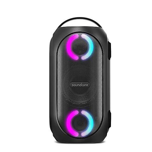 Anker Soundcore Rave Mini, Bluetooth スピーカー 大音量 80W出力 防水 重低音 高音質 BassUpテクノロジー LEDライトエフェクト IPX7 18時間連続再生