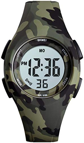 Digitaluhr Outdoor Sport Jugendliche Mädchen Uhr Kinder Jungen Digital Kinderuhr 5ATM Wasserdicht Armbanduhr Elektronisch