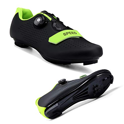 Joseph Haywood 2021 Women Cycling Shoes Road Bike Shoes Compatible Lock SPD/SPD-SL Indoor/Outdoor Riding Shoes Black