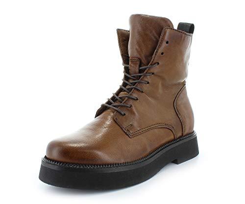 Mjus Damen Biker-Boots Triple 565223 halbhoch Glattleder Cognac EU 36