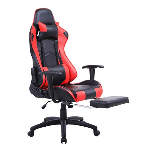 Mecor Gaming Chair Ergonomic Racing Style Adjustable High-Back PU Leather Office Chair Computer Desk Swivel Chair with Footrest, Headrest and Lumbar Support(2)
