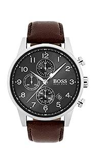 Hugo BOSS Reloj Cronógrafo para Hombre de Cuarzo con Correa en Cuero 1513494 (B06XS9GXLR) | Amazon price tracker / tracking, Amazon price history charts, Amazon price watches, Amazon price drop alerts
